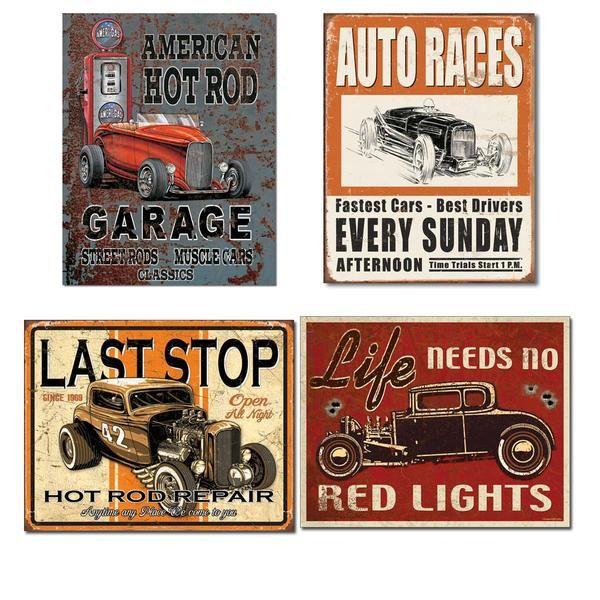Vintage Baseball Tin Sign Bundle Vintage Hot Rod Classic Cars Vintage Hot Rod Birthday Party