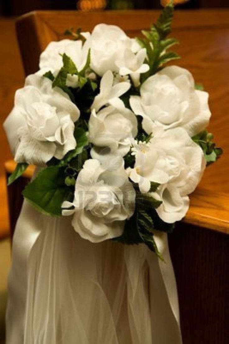 church pew flowers wedding flowers pinterest. Black Bedroom Furniture Sets. Home Design Ideas