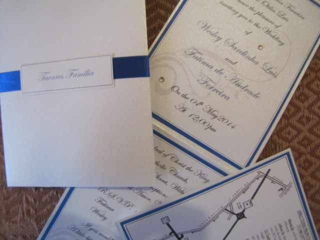 Wedding Invitations Royal Blue And Silver: Royal Blue, Silver And Black Wedding Invitation