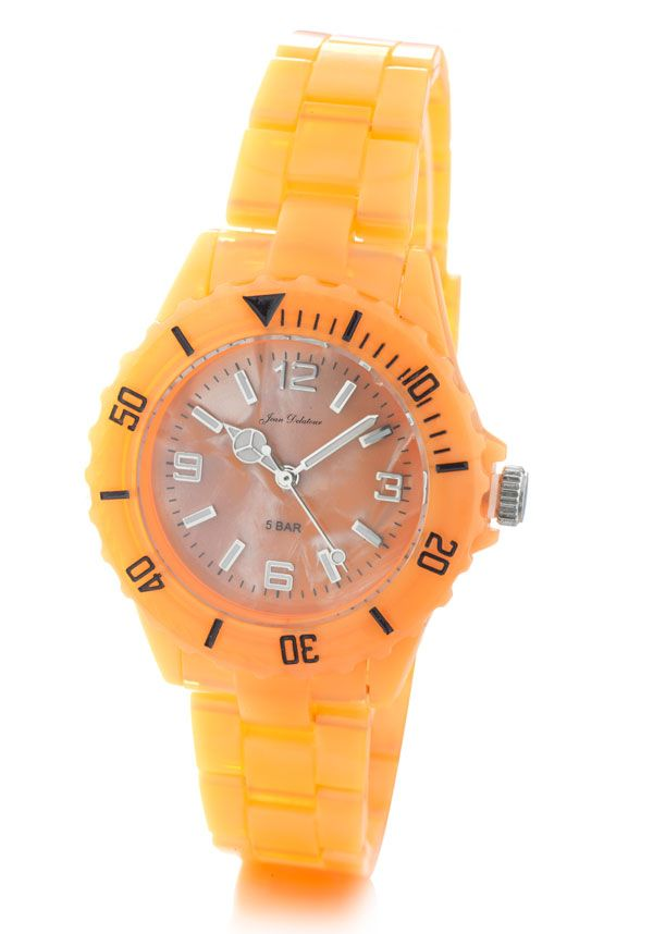 Montre femme fond orange 5atm #montres #montre #watch #bijoux #jeandelatour #jewels #bijouterie #bijoutier #bijouxfemme