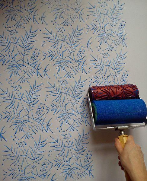 Wanddeko - Musterwalzen Set, Gemusterte Farbroller - ein Designerstück von Tapet-Show bei DaWanda