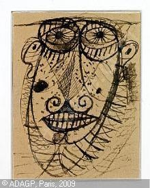 Carl-Henning Pedersen, 1913-2007 (Denmark): Composition with mask