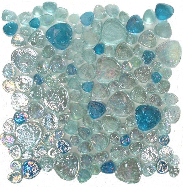 Candy glass tile in Sea Pebbles