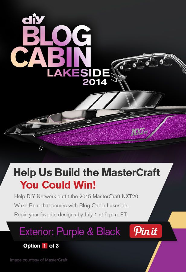 Help DIY Network outfit the boat that comes with Blog Cabin 2014! Repin and like your favorite designs by July 1.: Diy Blog, Favorite Design, Help Diy, Diy Boats, Network Outfits, Cabins 2014, Blog Cabins, Cabins Boats, Diy Network