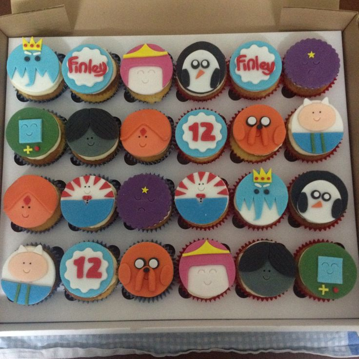 Adventure Time cupcakes ~ not my design but permission given - Adventure Time cupcakes