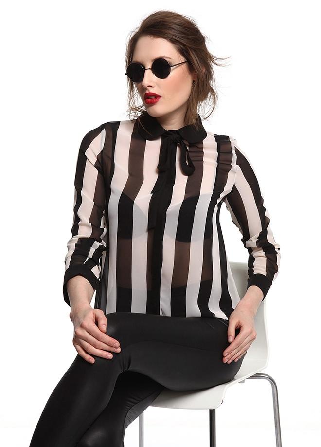 SATEEN Kalın çizgili gömlek Markafoni'de 69,90 TL yerine 34,99 TL! Satın almak için: http://www.markafoni.com/product/3411152/