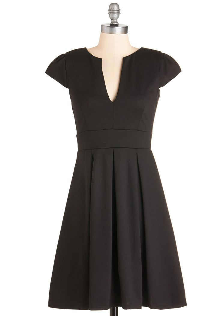 Meet Me At the Punch Bowl Dress in Noir, @ModCloth