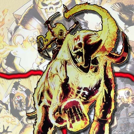 Ghost Rider (Shoba Mirza) on his elephant  - Marvel Universe Wiki: The definitive online source for Marvel super hero bios.°°