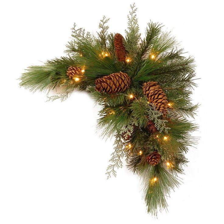 National Tree Company 30 in. Artificial White Pine Corner Swag, Green