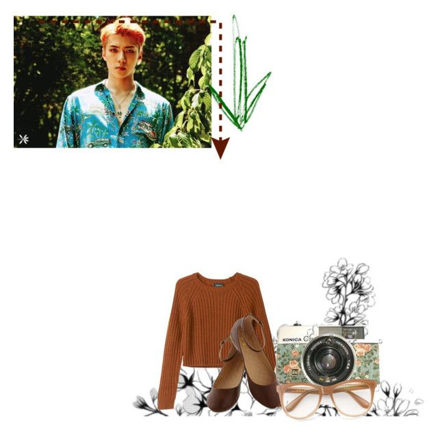 """Sehun~ Simplicity"" by shaleens2 ❤ liked on Polyvore featuring Monki and Wildfox"