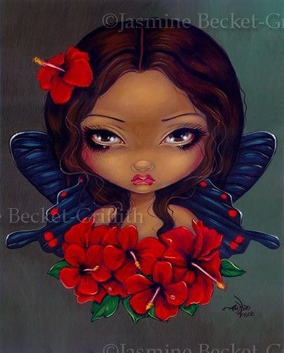 Red Hibiscus Fairy - Jasmine Becket-Griffith.