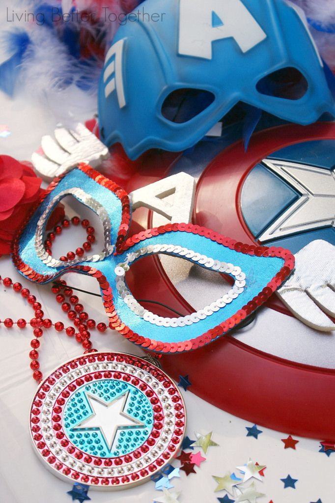 A fun Captain America Birthday Party with a Superhero Photo Booth!