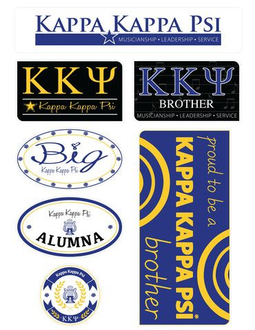 Kappa Kappa Psi Family Stickers