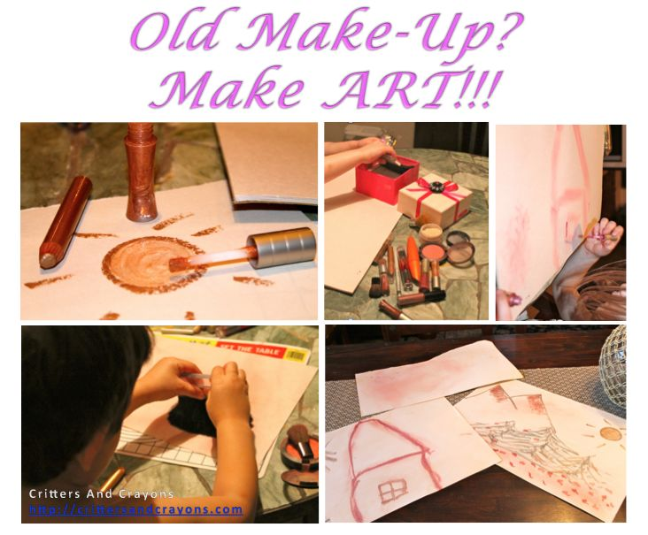 Don't toss out your old make-up.  Use it to make art as a family!: Make Art, Diy Inspiration, Kids Stuff, Makeup, Family Ideas, Art Ideas, Make Up Art, Kid Stuff, Craft Ideas