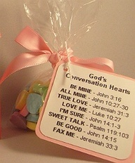 Gods Conversation Hearts Favor Idea  / Church Valentine craft!