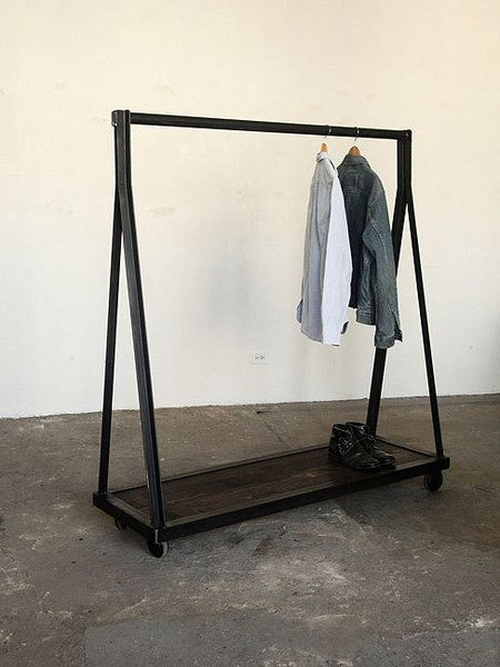 modern clothes racks striking storage for small spaces