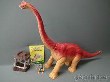 Playskool Definitely Dinosaurs Giant Ultrasaurus w Figure Large Saddle & Book