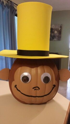 Curious George pumpkin craft