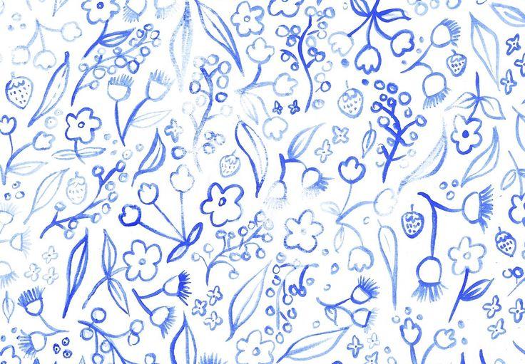 Francie Melbourne blue flowers print