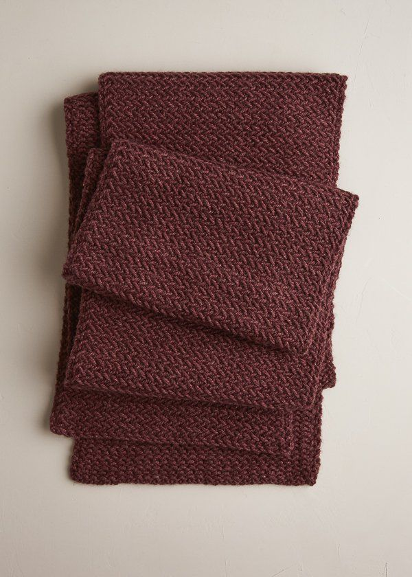 Our Mini Herringbone Scarf knitting pattern is a classic scarf knit from just 3 skeins of our unspeakably soft Understory yarn.