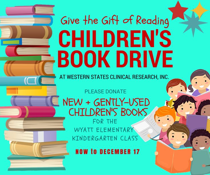 Wyatt Elementary in Denver, CO doesn't have a library. Please help by donating your gently-used or new children's books! Now through December 17th.