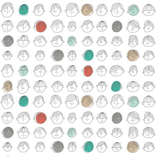 Faces Pattern by ankepanke_design