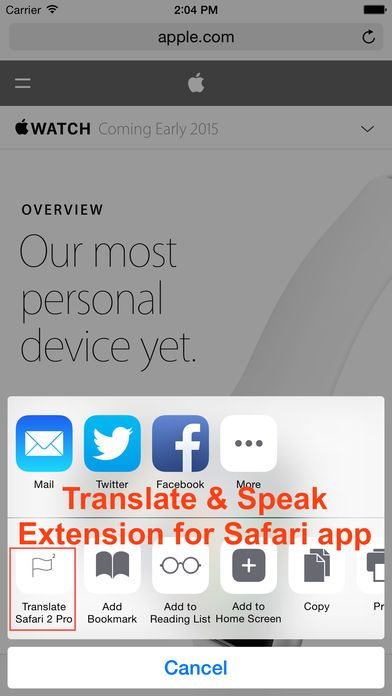 Translate 2 for Safari - Translate & Speak Web by BorG Technology Corp. is now Free for a limited time!