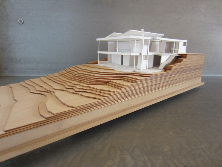 The model for a beachfront residence which is currently being built.
