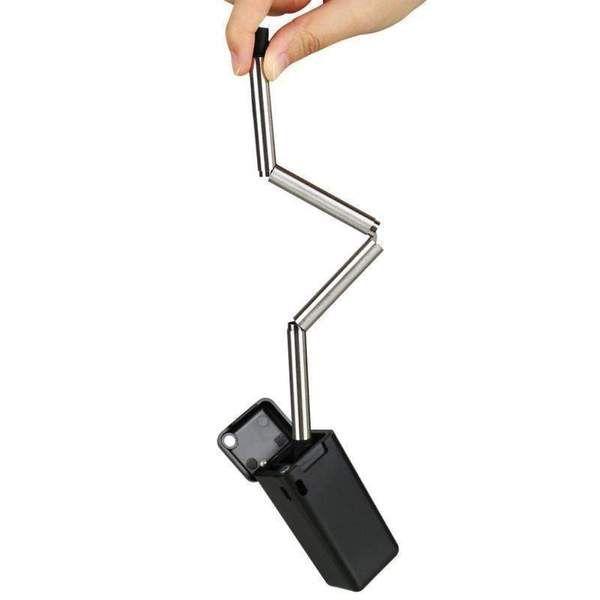 Acier Inoxydable 8pcs Pailles Réutilisable Métal Avec Silicone Tips Clean Brush Set