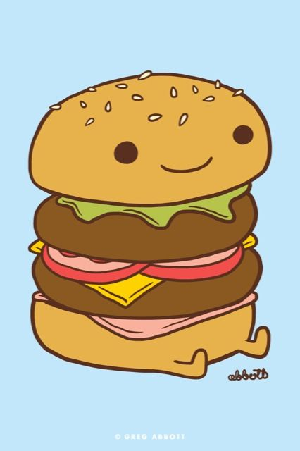This burger is just login' life ❤️