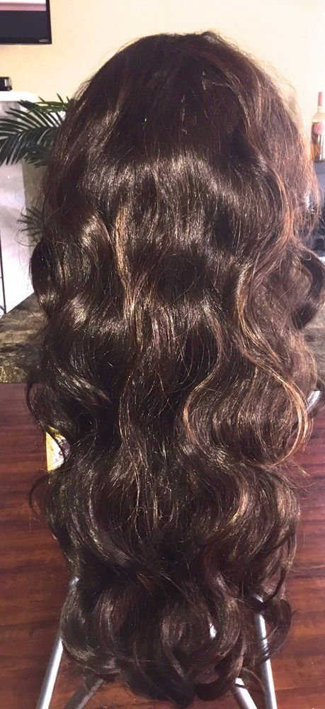 Synthetic Wig Instant Weave Wig NEW Fashion WAVY CURLY COLOR #2   #SensationalKanubia #LONG