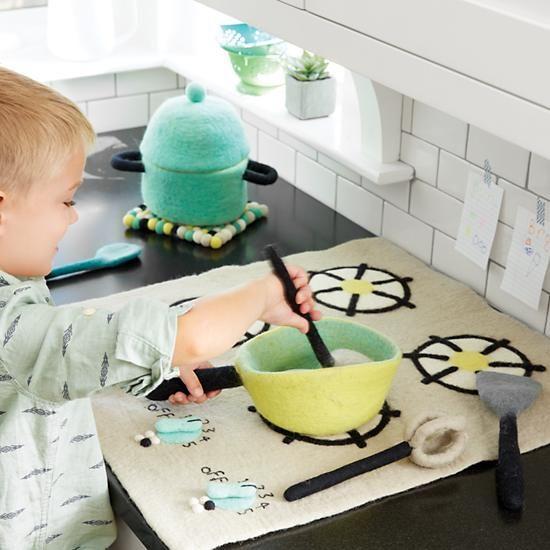 Felt Gourmet Plush Cooking Set    The Land of Nod