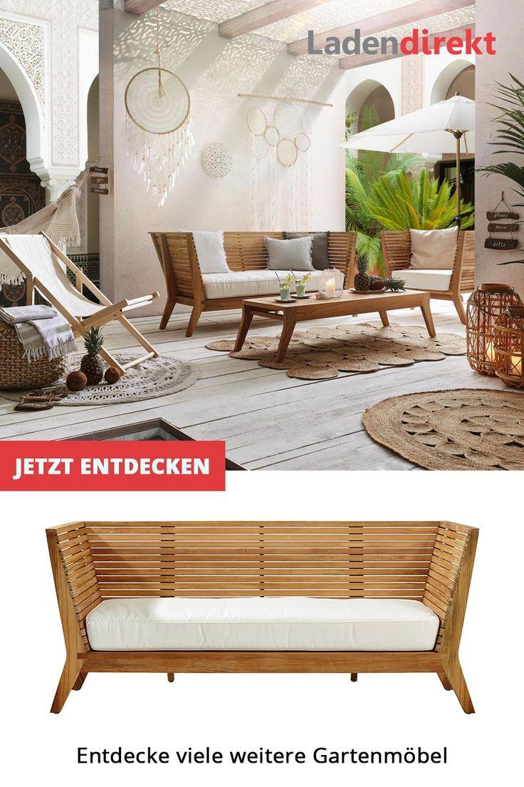 Schlichte Massivholz Gartenbank Gestaltungsideen Fur Garten Und Balkon Palettenmobel Im Freien Dekor Haus Deko