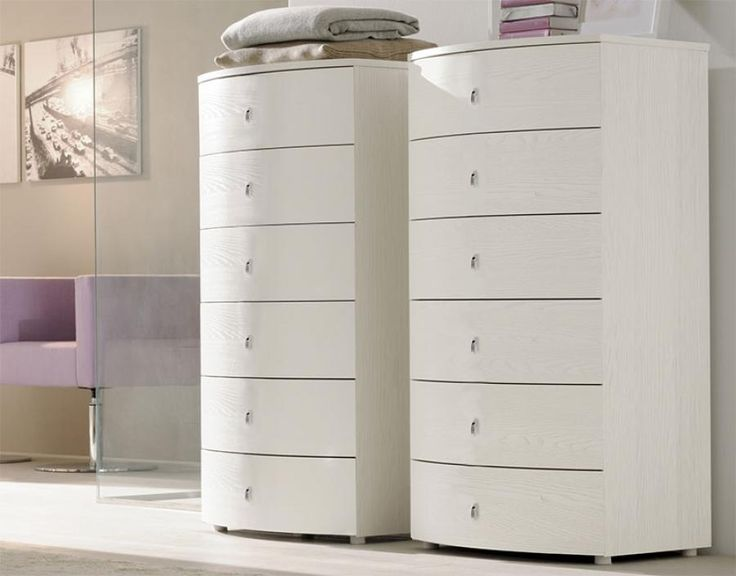 Glamour Contemporary Tall Chest of 6 Drawers by SMA Mobili Spa