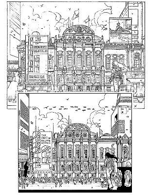"""vignetta da """"Agenzia Alfa n° 33, Il sole del mattino"""", testi di S.Piani e disegni di Melissa Zanella . (L'eredità di Hopper -Sergio Bonelli Editore). By Melissa Zanella."""