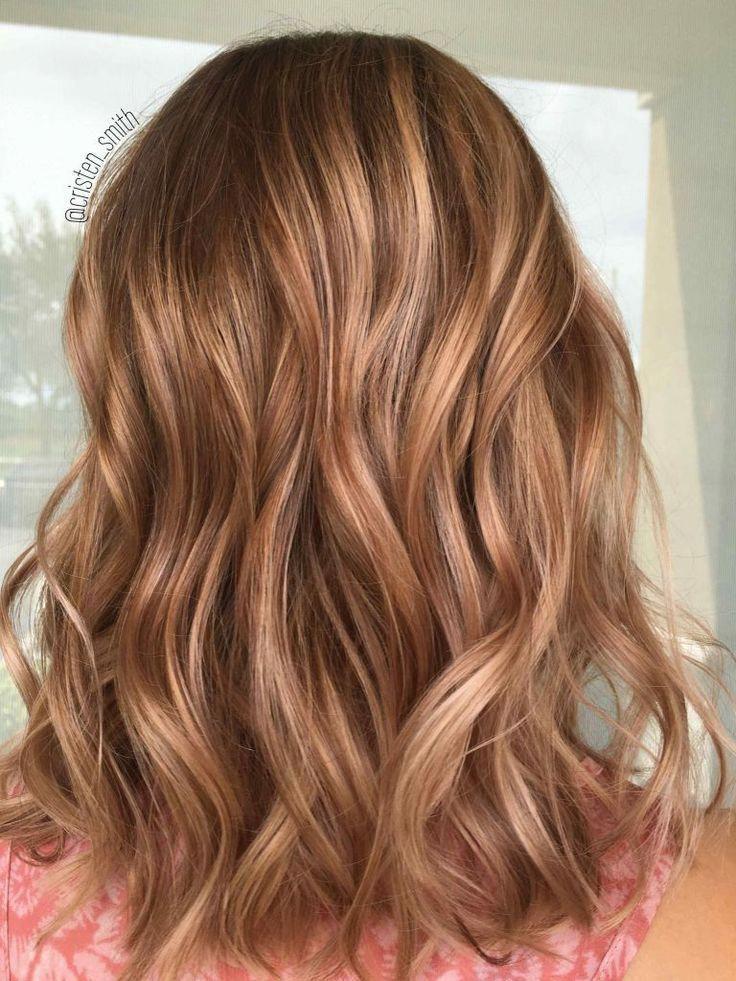 Luxus Haarfarbe Blond Honig Karamell Highlights Hellbraun