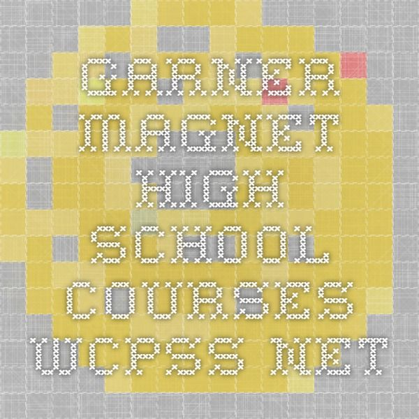 Garner Magnet High School courses wcpss.net