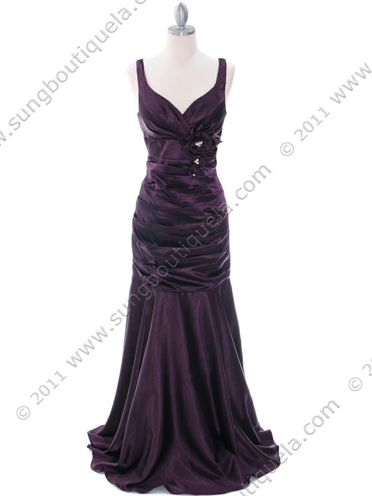 Dark Purple Bridesmaid Dresses, from Sung Boutique Los Angeles