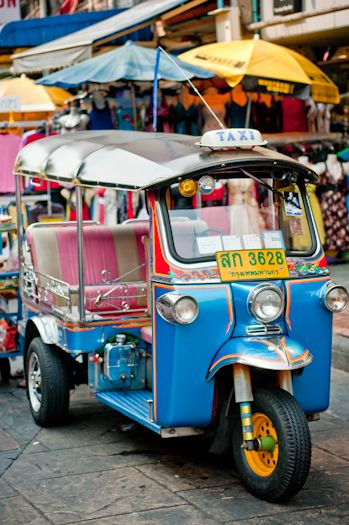 Tuk tuk's - a common means of public transportation in many countries in the world; cheaper than taxi's but slightly more restrictive in terms of what they can carry and where they can go