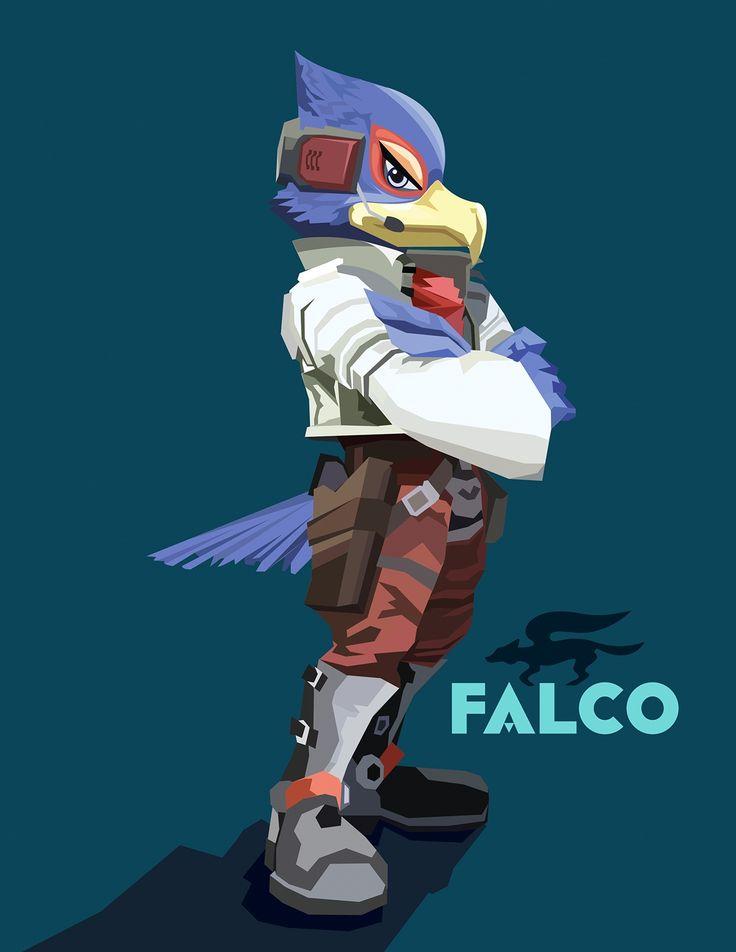Falco/Star Fox Ilustración vectorial