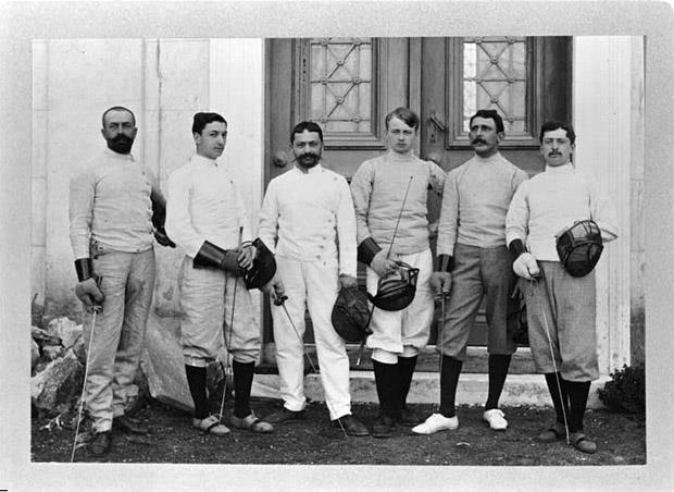 Athens 1896 - The French team.