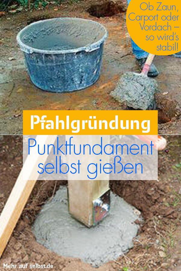 Fundament Bauen Selbst De Fundament Bauen Fundament Gartenhaus Fundament
