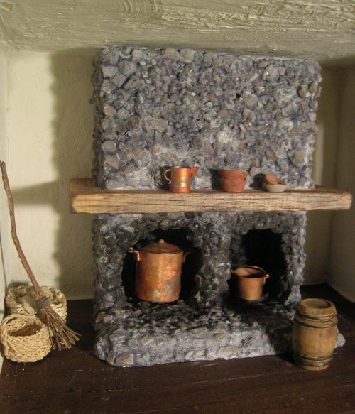 Awesome mini stone fireplace