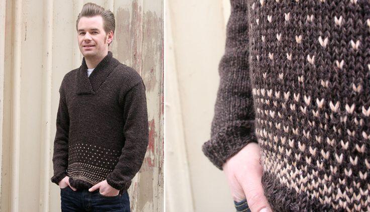 "Hmm, how about girlfriend sweater?? :)     ""Oh, handsome boyfriend sweater"" - free pattern - Pickles"