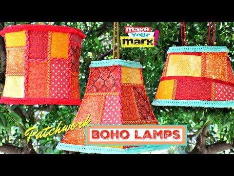 Patchwork Boho Lampen DIY – YouTube   – upcycle stuff