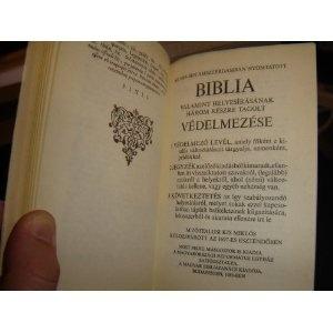 Apologia Bibliorum ORIGINAL with Hungarian mirror translation (A Biblia Vedelmezese)  $39.99