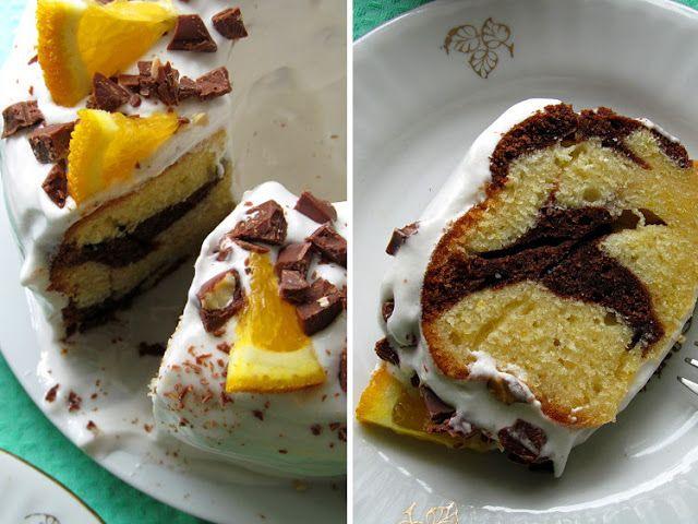 Постигая искусство кулинарии... : Апельсиново-шоколадный кекс с белковой помадкой