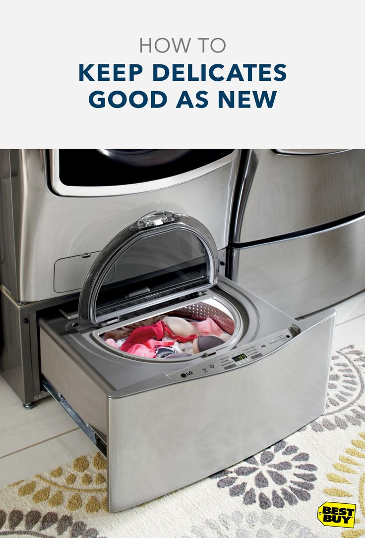 Have your delicates been taking  a beating in your current washing machine? The LG Sidekick can help. This 1.0 cu. ft. capacity washer is perfect for making sure everything from your hand washables to your work out gear get the proper wash they deserve, while also preserving their quality. And when you pair LG's Sidekick with the LG Twin Wash, you'll be able to take care of another load of laundry while your delicates get cleaned. Shop our LG Twin Washers and Dryers now.