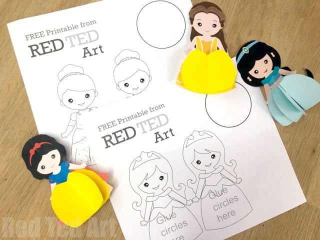 Paper Princess Doll Diy Princess Ornaments Cards Red Ted Art Make Crafting With Kids Easy Fun Princess Paper Dolls Paper Dolls Princess Diy