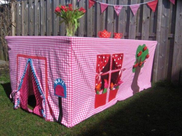 Super Idee das werde ich für meine Enkelkinder nähen und dann einfach wie eine Tischdecke über den Tisch legen